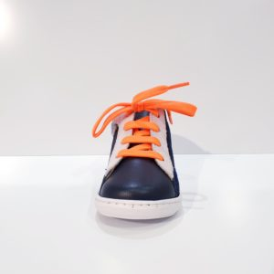 SHOOPOM.BOUBASTYLE.VELOURS/NAPPA.NAVY/WHITE/ORANGE